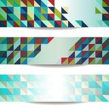 Banners set. With geometric pattern Royalty Free Stock Image