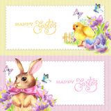 Banners Set Happy Easter Stock Photos