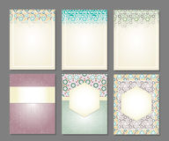 Banners set of islamic. Banners set of templates in islamic style, vector illustration Stock Photos