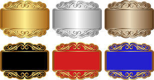 Banners. Set of isolated banners with ornaments Stock Images