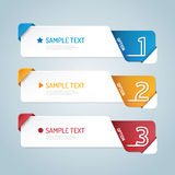 Banners set number modern design vector. Royalty Free Stock Photography