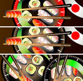 Banners set Sushi Royalty Free Stock Images
