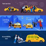 Banners Set Of Taxi Service Royalty Free Stock Photos