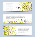 Banners set of white ,textured rectangle Stock Images