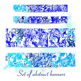 Banners set of winter textures Royalty Free Stock Image