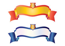 Banners with shield - vector Royalty Free Stock Images