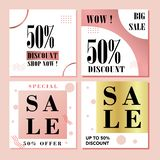 Banners Shopping background, label for business promotion royalty free illustration