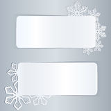 Banners with snowflake shapes Stock Photography