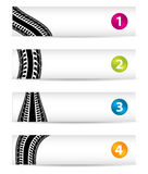 Banners with special tire design Royalty Free Stock Photo