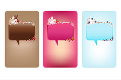 Banners With Speech Bubbles And Ice-Cream. Vector Stock Photography