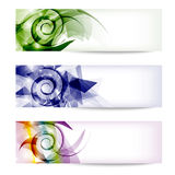 Banners with spirals Royalty Free Stock Photo