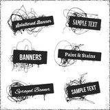 Banners With Spray Paint Royalty Free Stock Photo