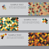 Banners with square background Royalty Free Stock Image
