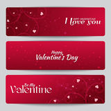 Banners for St. Valentine's Day Royalty Free Stock Images