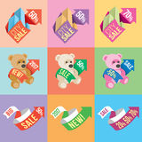 Banners and stickers Stock Photography
