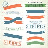 Banners and stripes Stock Photos