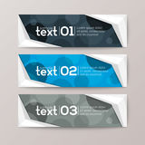 Banners template with abstract circle pattern background Royalty Free Stock Image