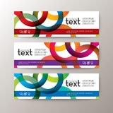 Banners template with abstract circle ring pattern on white background Royalty Free Stock Images