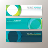 Banners template with abstract circle shape pattern background Royalty Free Stock Photo