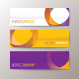 Banners template with abstract circle shape pattern background. Set of modern design banners template with abstract circle shape pattern background Stock Image