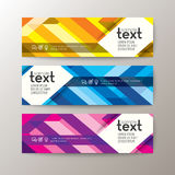 Banners template with abstract line pattern background Royalty Free Stock Image