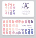 Banners template with colorful strokes Royalty Free Stock Photos