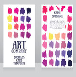 Banners template with colorful strokes Stock Images