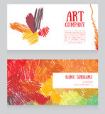 Banners template with colorful strokes Stock Photo
