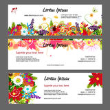 Banners template, floral design Royalty Free Stock Image