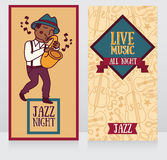 Banners template for live music night Royalty Free Stock Image