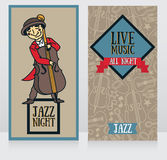 Banners template for live music night Royalty Free Stock Photo