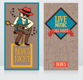 Banners template for live music night Stock Photography