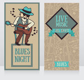 Banners template for live music night Royalty Free Stock Photos