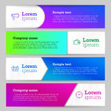 Banners template royalty free illustration
