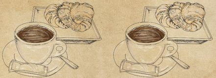 Banners templates with coffee. Banners templates ,cake and coffee Royalty Free Stock Photos