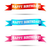 Banners with text happy birthday Stock Photo