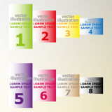 Banners with text for web design Royalty Free Stock Images