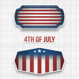 Banners for 4th of July american Holiday. Vector Illustration stock illustration