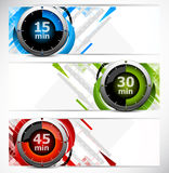 Banners with timers Stock Image