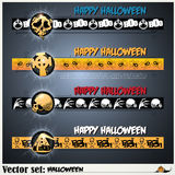 Banners to prepare for the holiday Halloween Royalty Free Stock Photos
