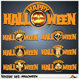 Banners to prepare for the holiday Halloween Stock Photo