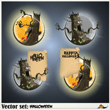 Banners to prepare for the holiday Halloween Stock Photography