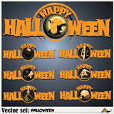 Banners to prepare for the holiday Halloween Royalty Free Stock Image