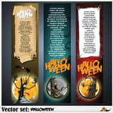Banners to prepare for the holiday Halloween Royalty Free Stock Images