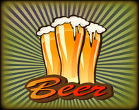 Banners on topic with beer. Beer - the best drink ,banners on topic with beer Stock Photos