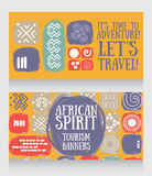 Banners for travels Stock Photos