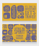 Banners for travels Stock Image