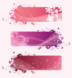 Banners of valentine Stock Images
