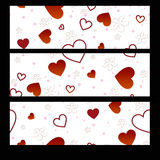 Banners Valentines Day. With hearts and flowers royalty free illustration