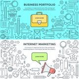 Banners voor de Marketing en van Bedrijfs Internet portefeuille Vector Illustratie